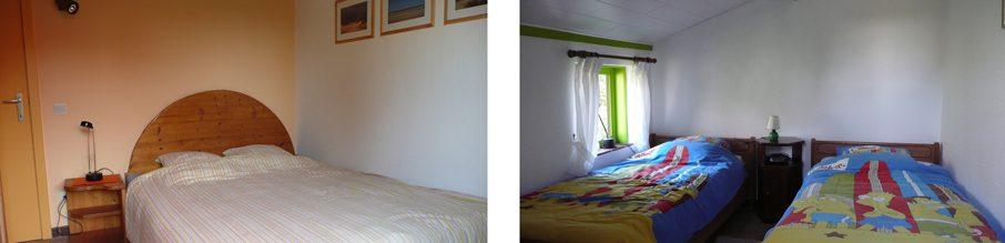't Vakantiehuisje Pierroo - slaapkamers gelijkvloers